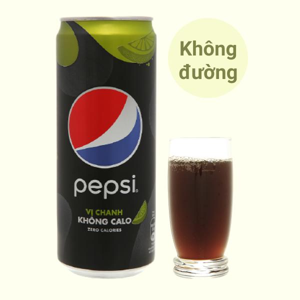 Nước ngọt Pepsi không calo vị chanh 320ml