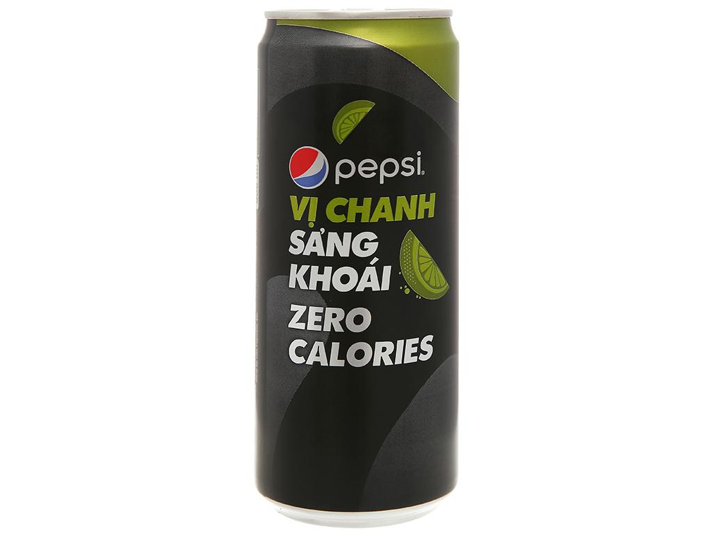 Nước ngọt Pepsi không calo vị chanh 330ml 3