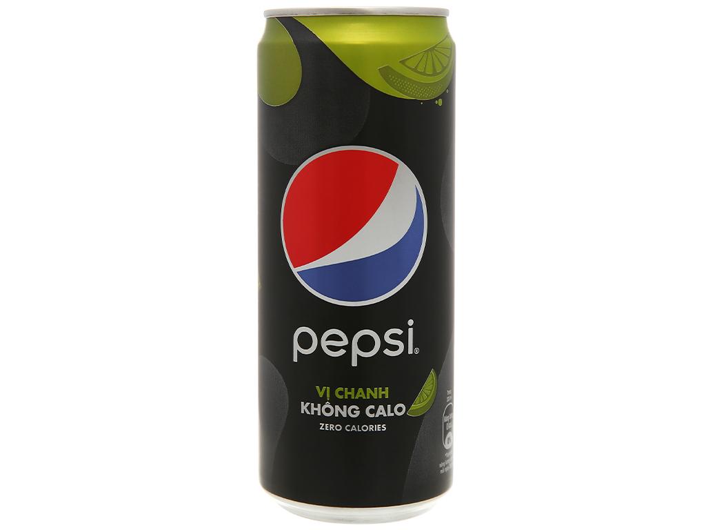 Lốc 6 lon nước ngọt Pepsi không calo vị chanh 330ml 3