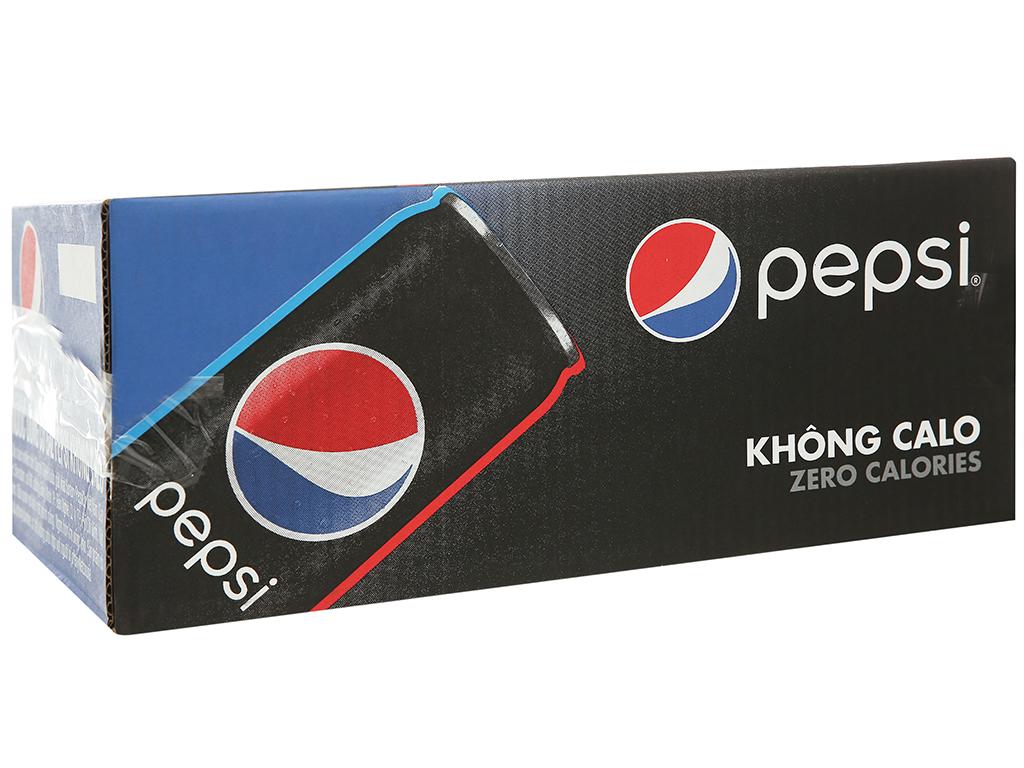 Thùng 24 lon nước ngọt Pepsi không calo 330ml 1