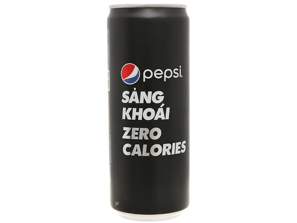 Thùng 24 lon nước ngọt Pepsi không calo 330ml 5