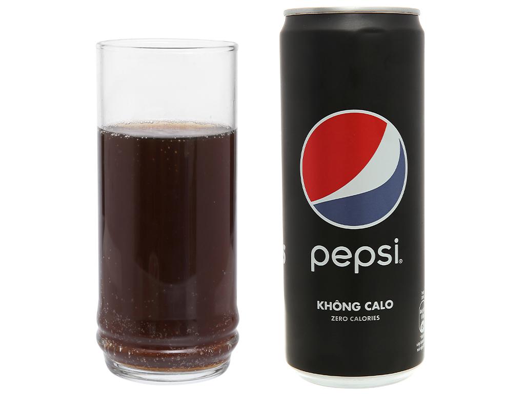 Thùng 24 lon nước ngọt Pepsi không calo 330ml 8