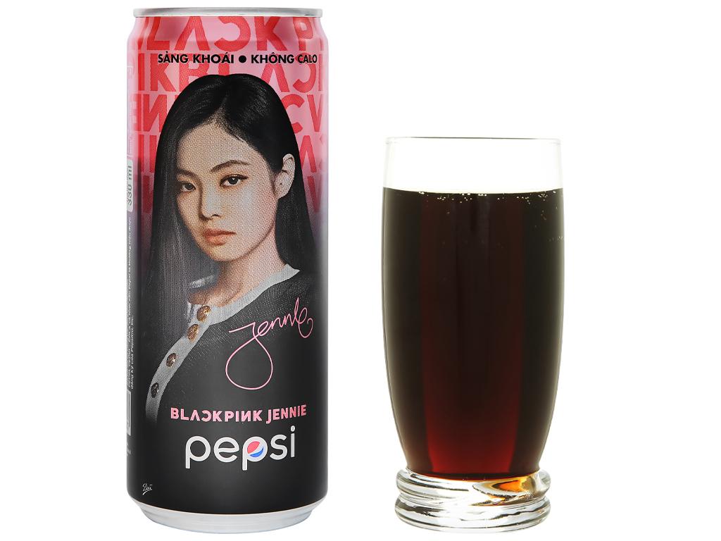 Thùng 24 lon nước ngọt Pepsi không calo 330ml 6