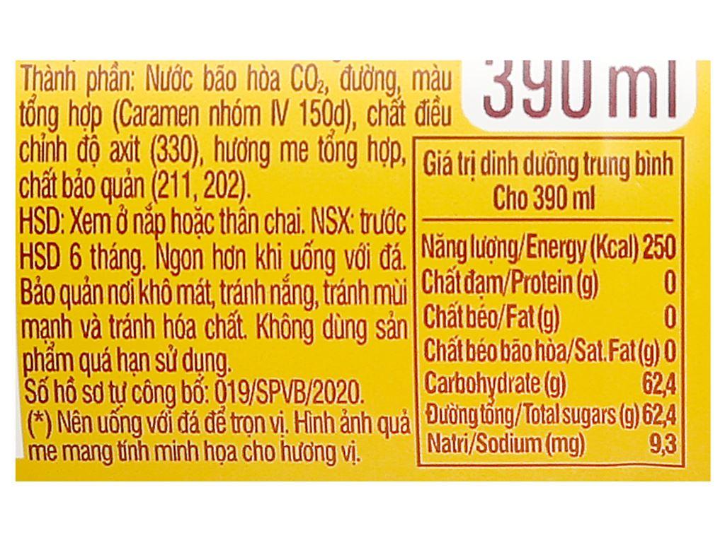 Thùng 24 chai nước ngọt Mirinda đá me 390ml 5