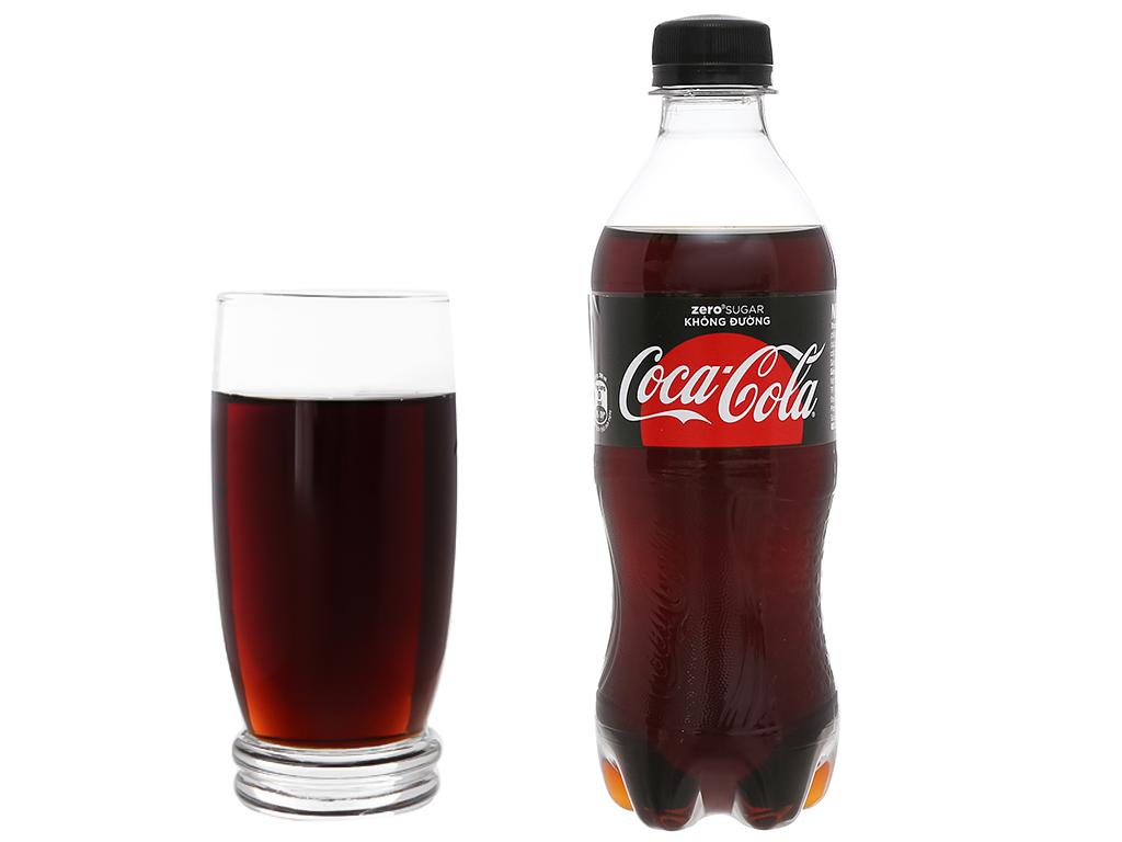 Nước ngọt có ga Coca Cola Zero chai 390ml 8