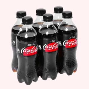 6 chai nước ngọt có ga Coca Cola Zero 390ml