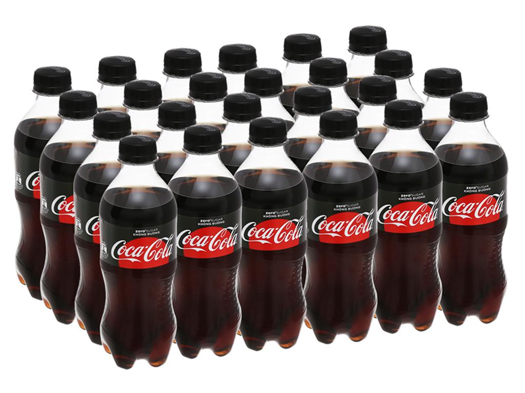 24 chai nước ngọt có ga Coca Cola Zero 390ml 1