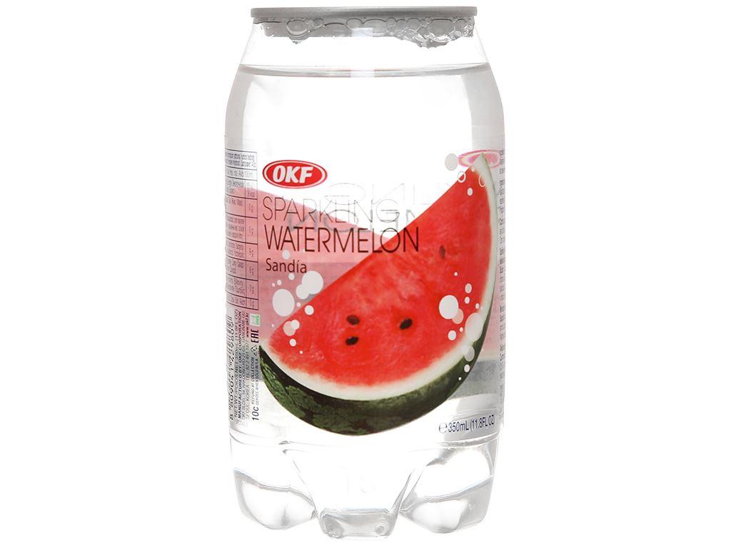 Nước ngọt có ga sparkling OKF vị dưa hấu lon 350ml 2
