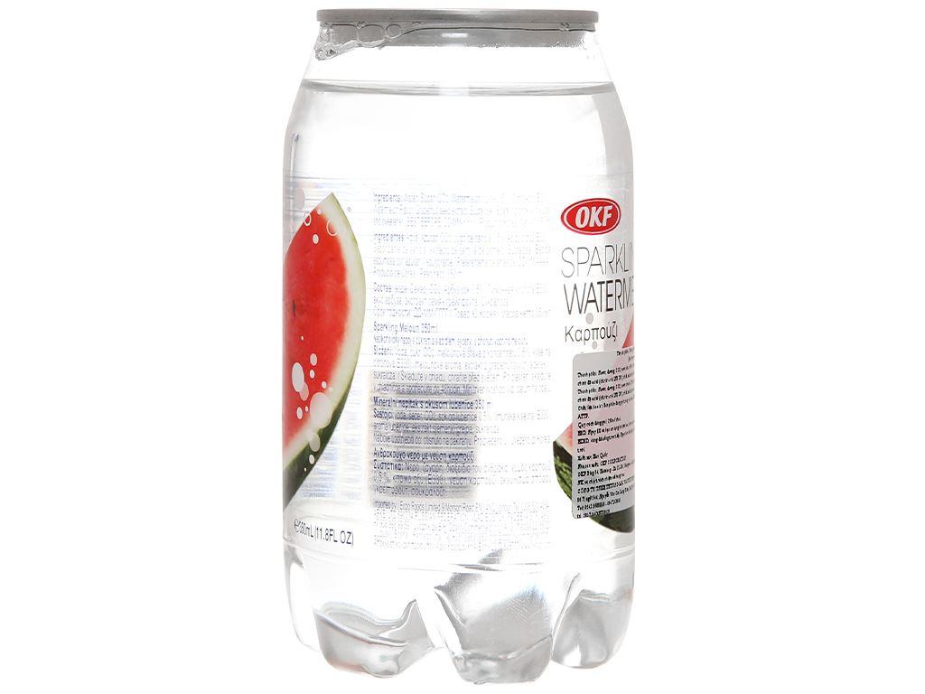 Nước ngọt có ga sparkling OKF vị dưa hấu lon 350ml 3