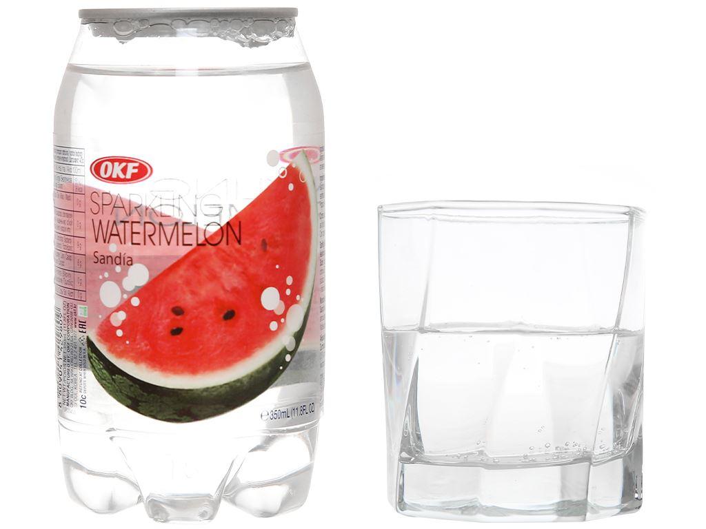 Nước ngọt có ga sparkling OKF vị dưa hấu lon 350ml 7