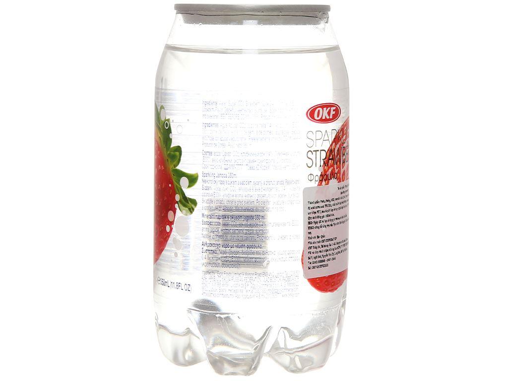 Nước ngọt có ga sparkling OKF vị dâu lon 350ml 3