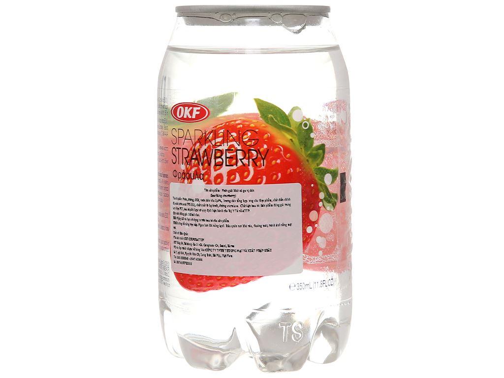 Nước ngọt có ga sparkling OKF vị dâu lon 350ml 4