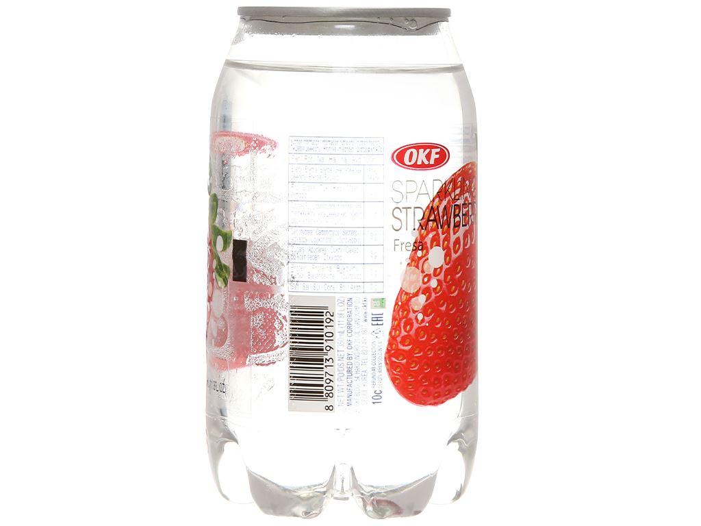 Nước ngọt có ga sparkling OKF vị dâu lon 350ml 5
