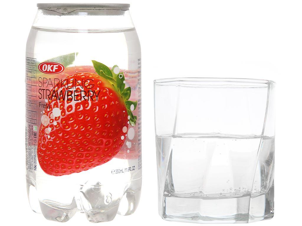 Nước ngọt có ga sparkling OKF vị dâu lon 350ml 7