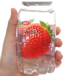 Nước ngọt có ga sparkling OKF vị dâu lon 350ml