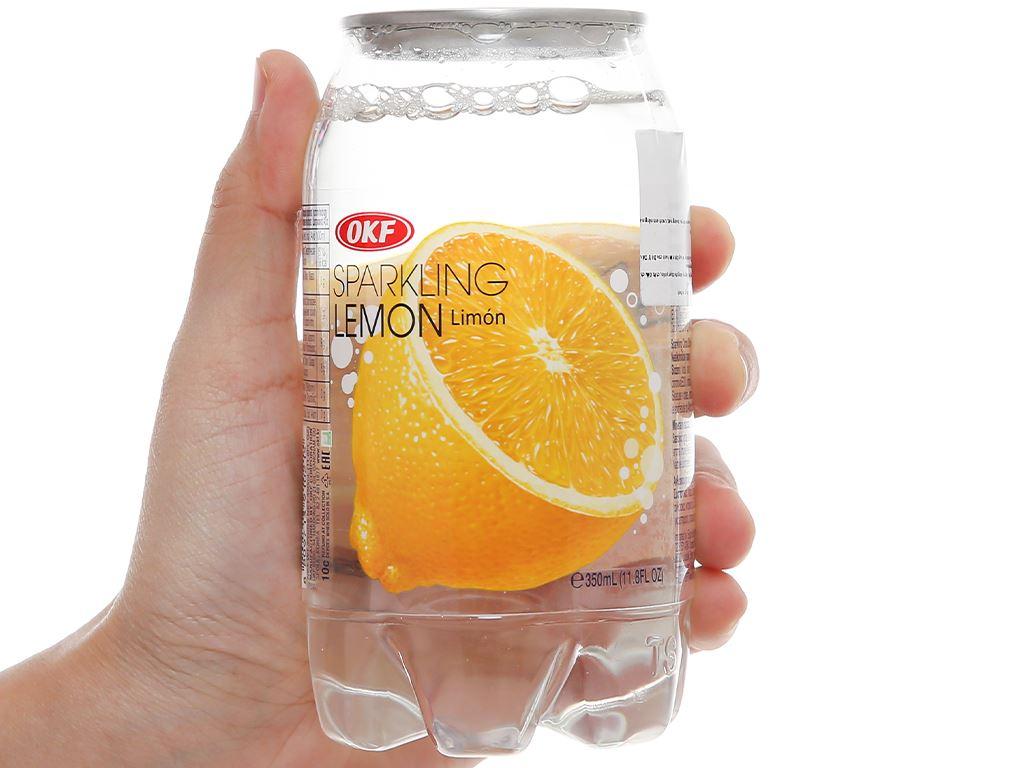 Nước ngọt có ga sparkling OKF vị chanh vàng lon 350ml 1