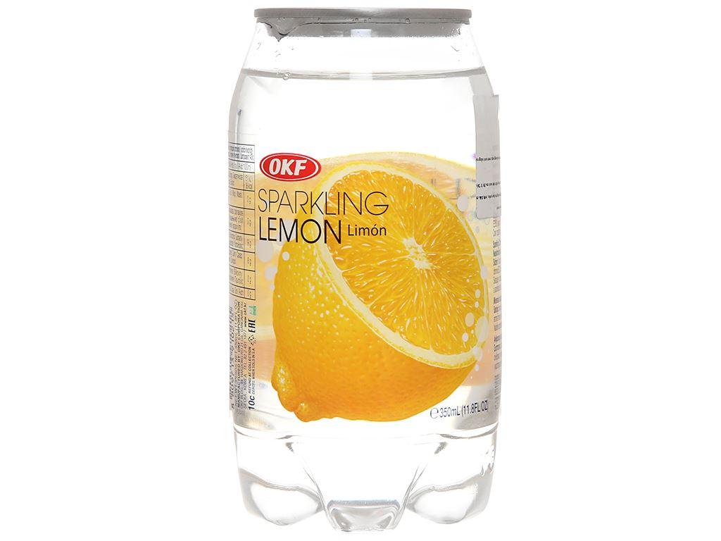 Nước ngọt có ga sparkling OKF vị chanh vàng lon 350ml 2