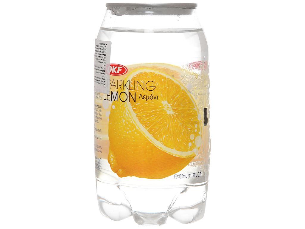 Nước ngọt có ga sparkling OKF vị chanh vàng lon 350ml 3