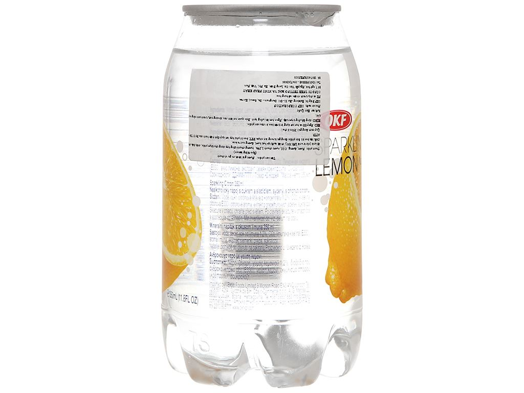 Nước ngọt có ga sparkling OKF vị chanh vàng lon 350ml 4