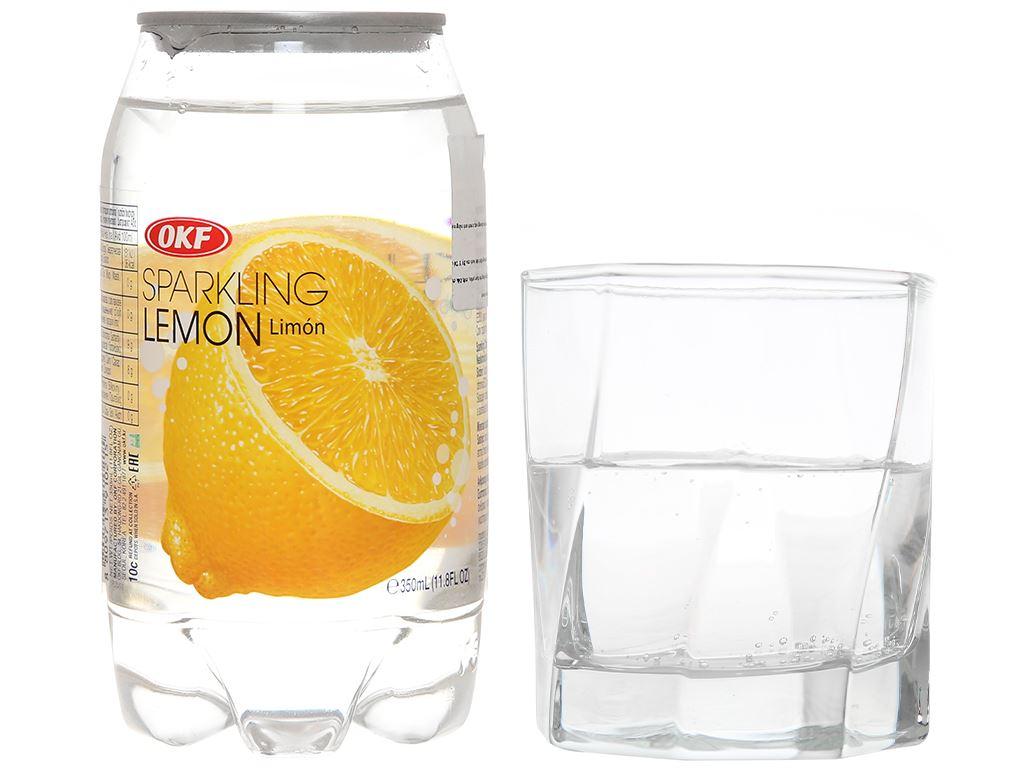 Nước ngọt có ga sparkling OKF vị chanh vàng lon 350ml 7