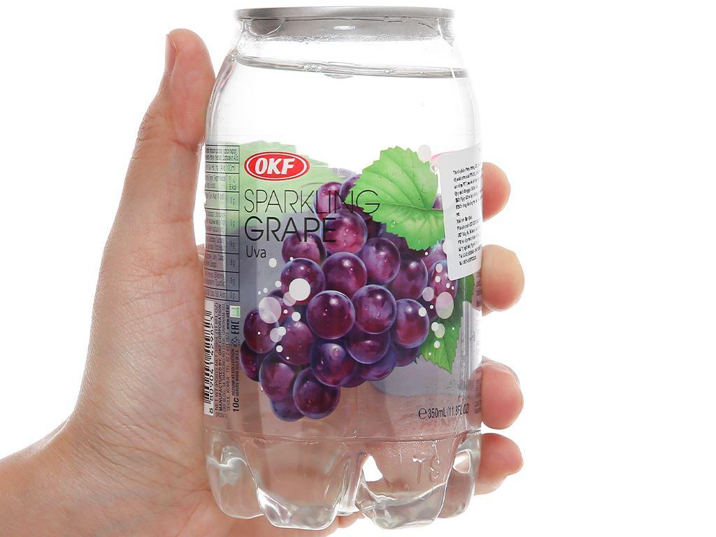 Nước ngọt có ga sparkling OKF vị nho lon 350ml 1