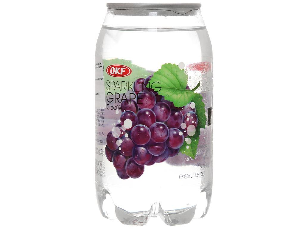 Nước ngọt có ga sparkling OKF vị nho lon 350ml 3