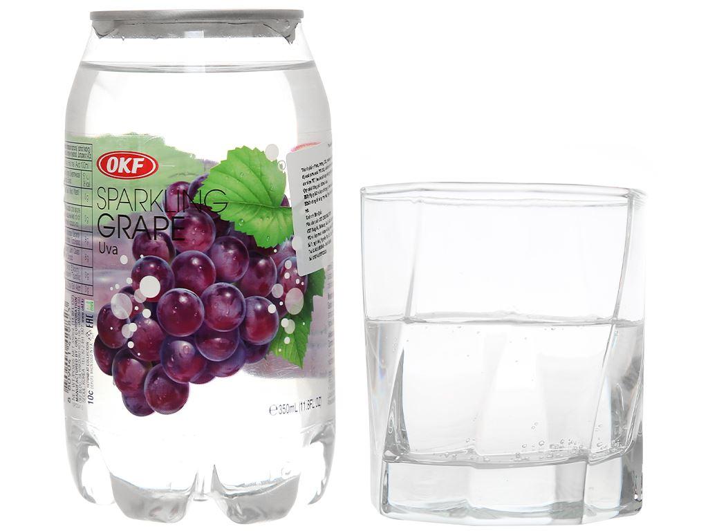 Nước ngọt có ga sparkling OKF vị nho lon 350ml 7
