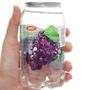 Nước ngọt có ga sparkling OKF vị nho lon 350ml