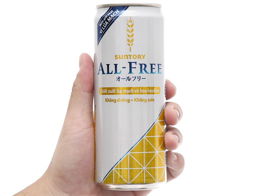 Nước giải khát có gas không cồn All Free vị lúa mạch lon 330ml 5