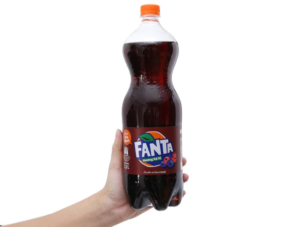 Nước ngọt Fanta hương xá xị 1.5 lít 4