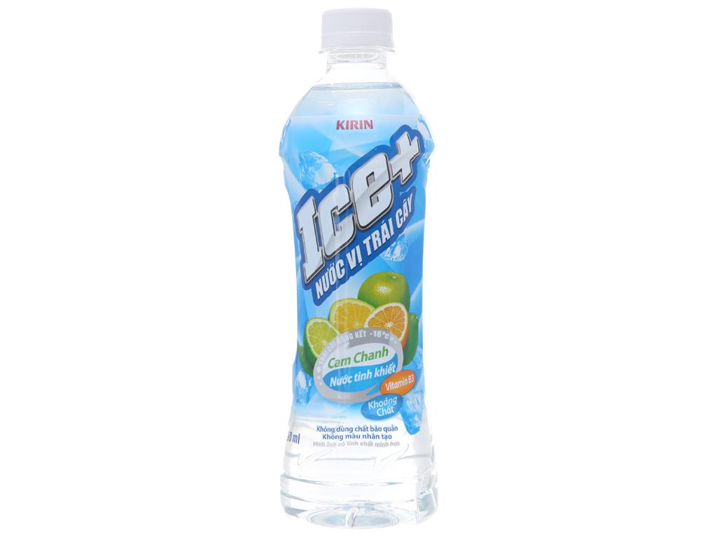 Nước trái cây Ice+ vị cam chanh 490ml 1