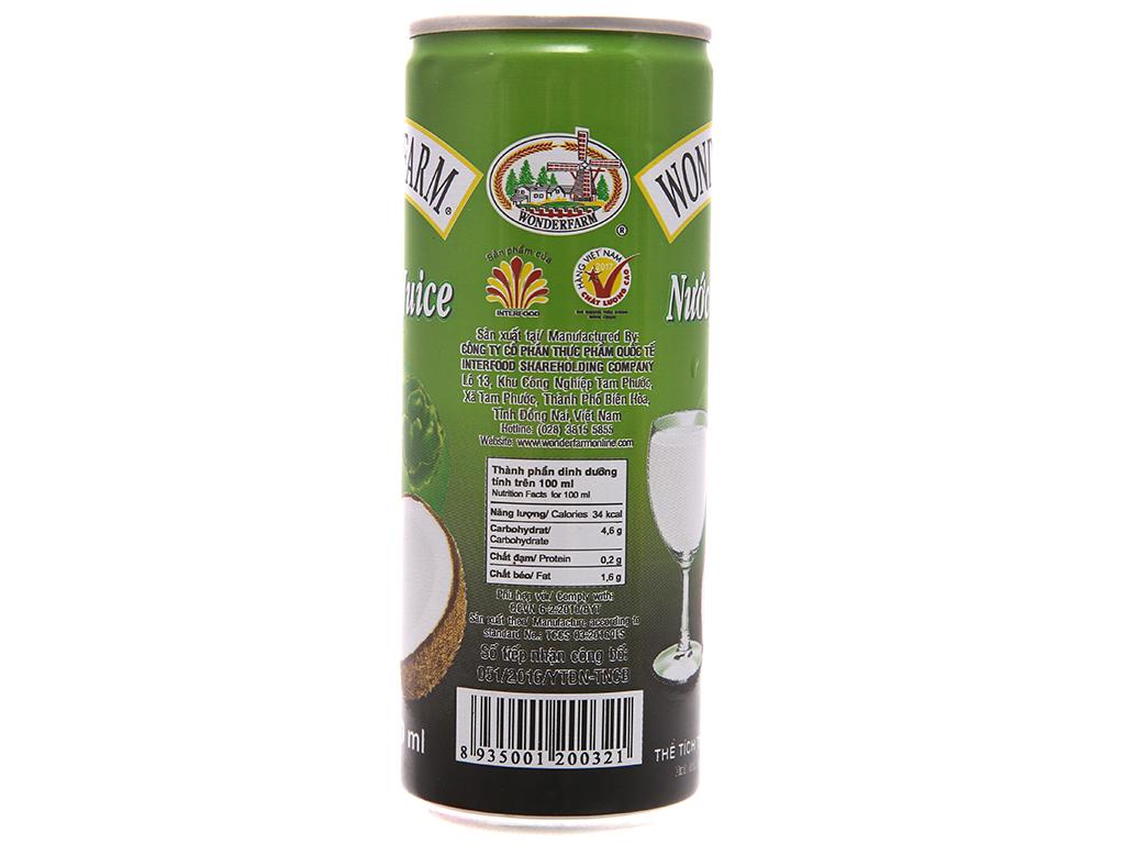 Sữa dừa Wonderfarm 240ml 2