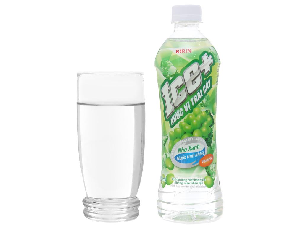 Nước trái cây Ice+ vị nho xanh 490ml 3