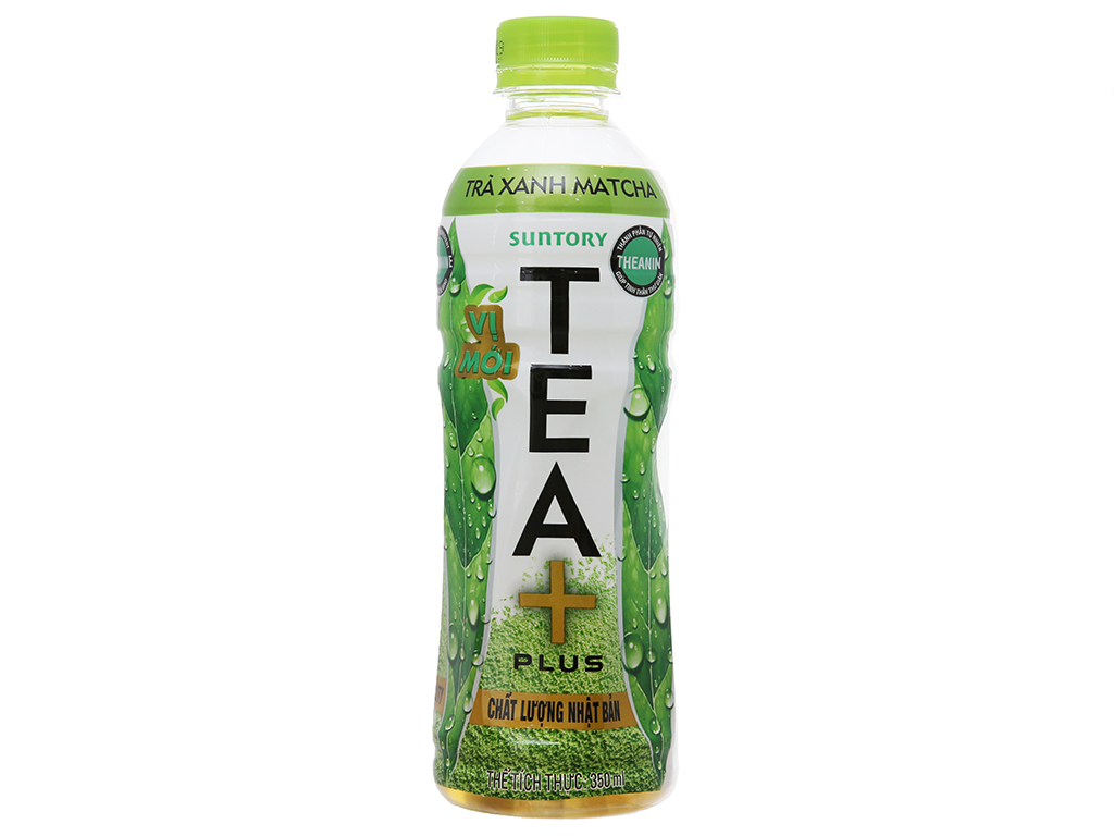Trà xanh matcha Tea Plus 350ml 2
