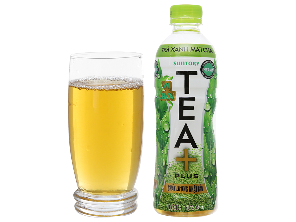 Trà xanh matcha Tea Plus 350ml 4