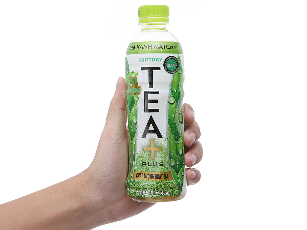 Trà xanh matcha Tea Plus 350ml 5