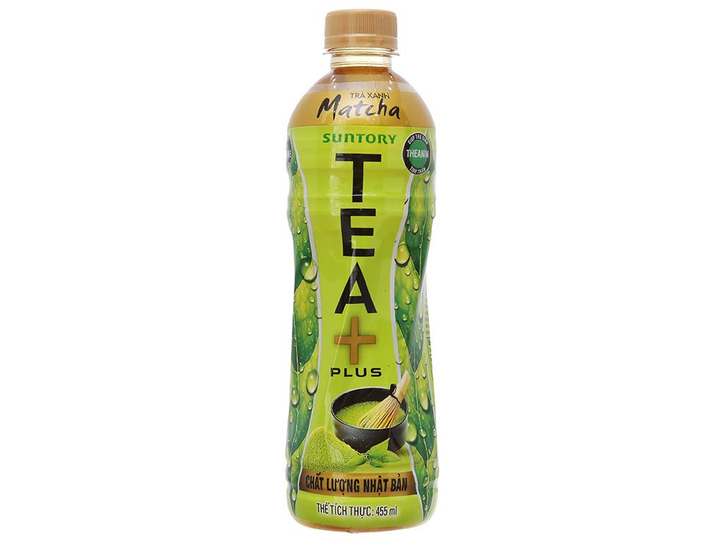 Trà xanh matcha Tea Plus 455ml 2
