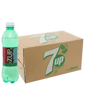 Thùng 24 chai nước ngọt 7 Up vị chanh 390ml