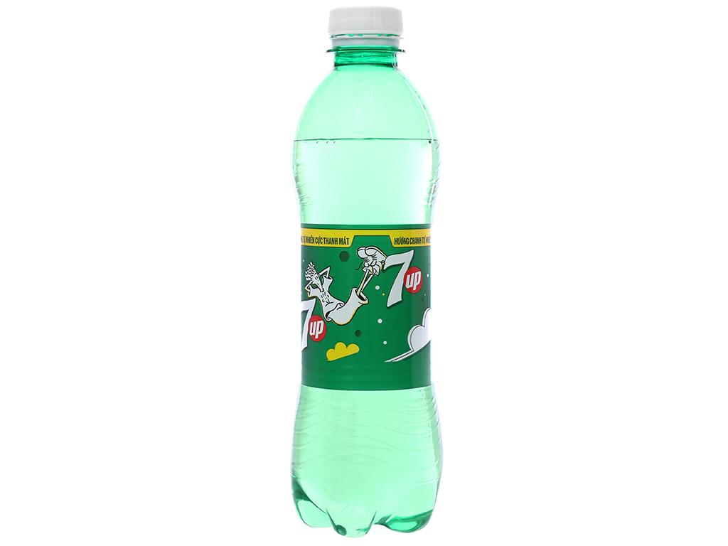 Thùng 24 chai nước ngọt 7 Up vị chanh 390ml 7