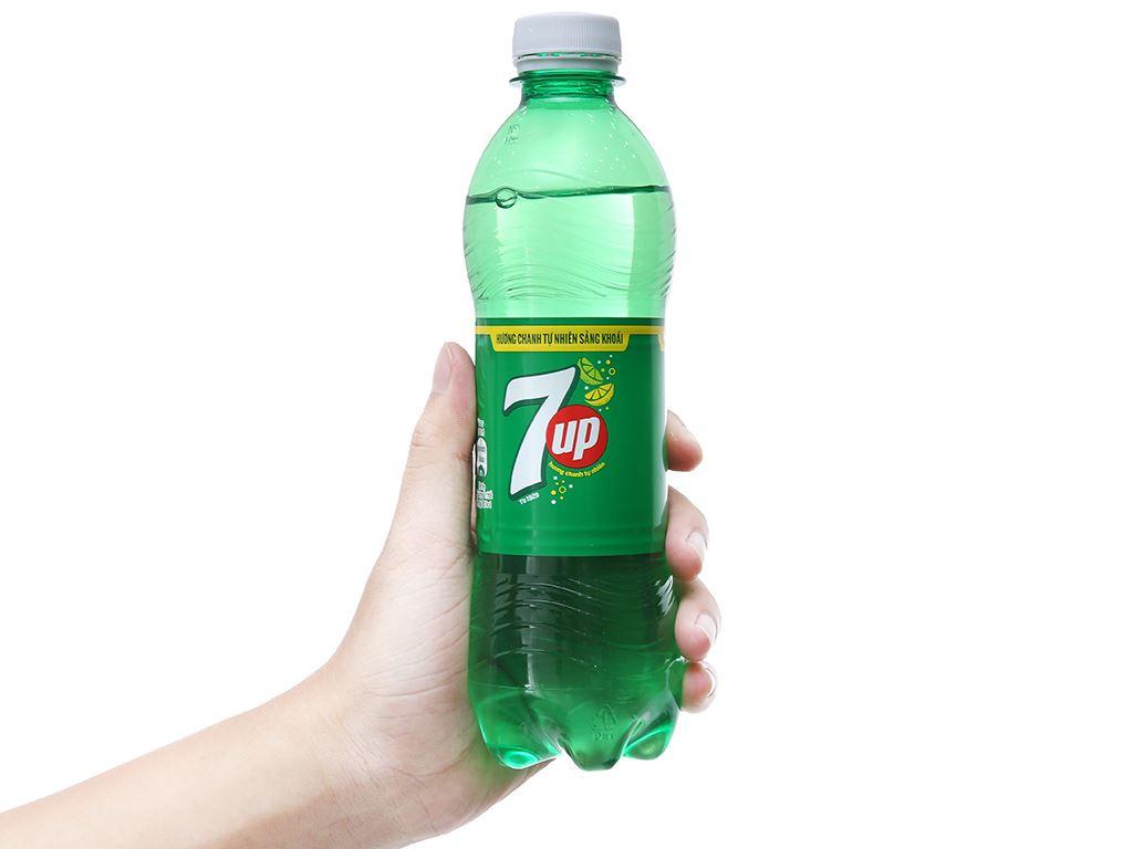 Thùng 24 chai nước ngọt 7 Up vị chanh 390ml 4