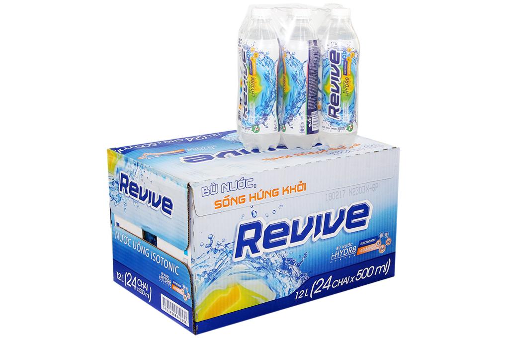 Nước ngọt 7 Up Revive chai nhựa 500ml (Thùng 24 chai)