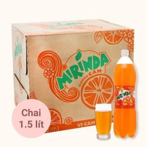 Thùng 12 chai nước ngọt Mirinda hương cam 1.5 lít