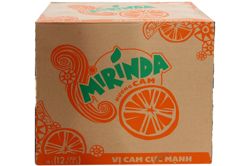 Nước ngọt Mirinda hương cam chai 1.5l (thùng 12 chai)