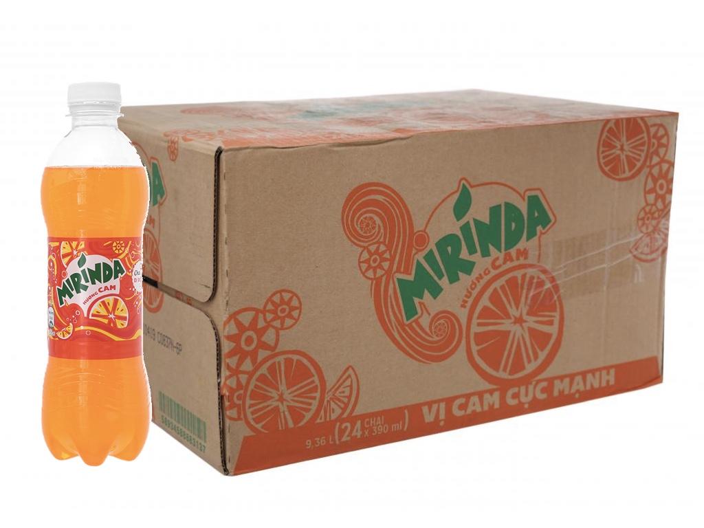 Thùng 24 chai nước ngọt Mirinda hương cam 390ml 1