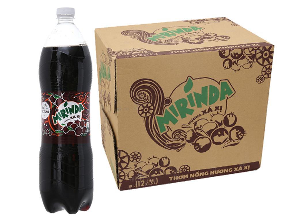 12 chai nước ngọt Mirinda hương xá xị 1.5 lít 2