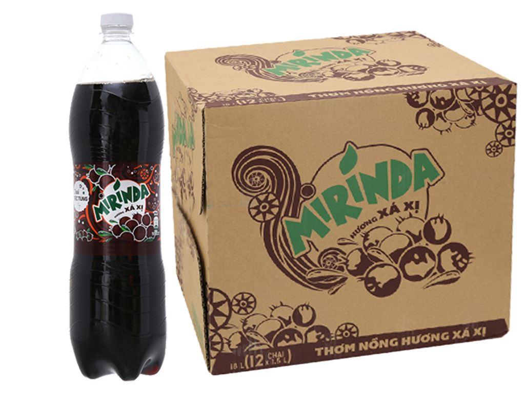 Thùng 12 chai nước ngọt Mirinda hương xá xị 1.5 lít 1