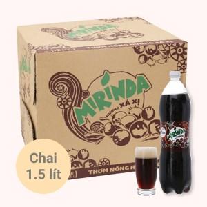 Thùng 12 chai nước ngọt Mirinda hương xá xị 1.5 lít