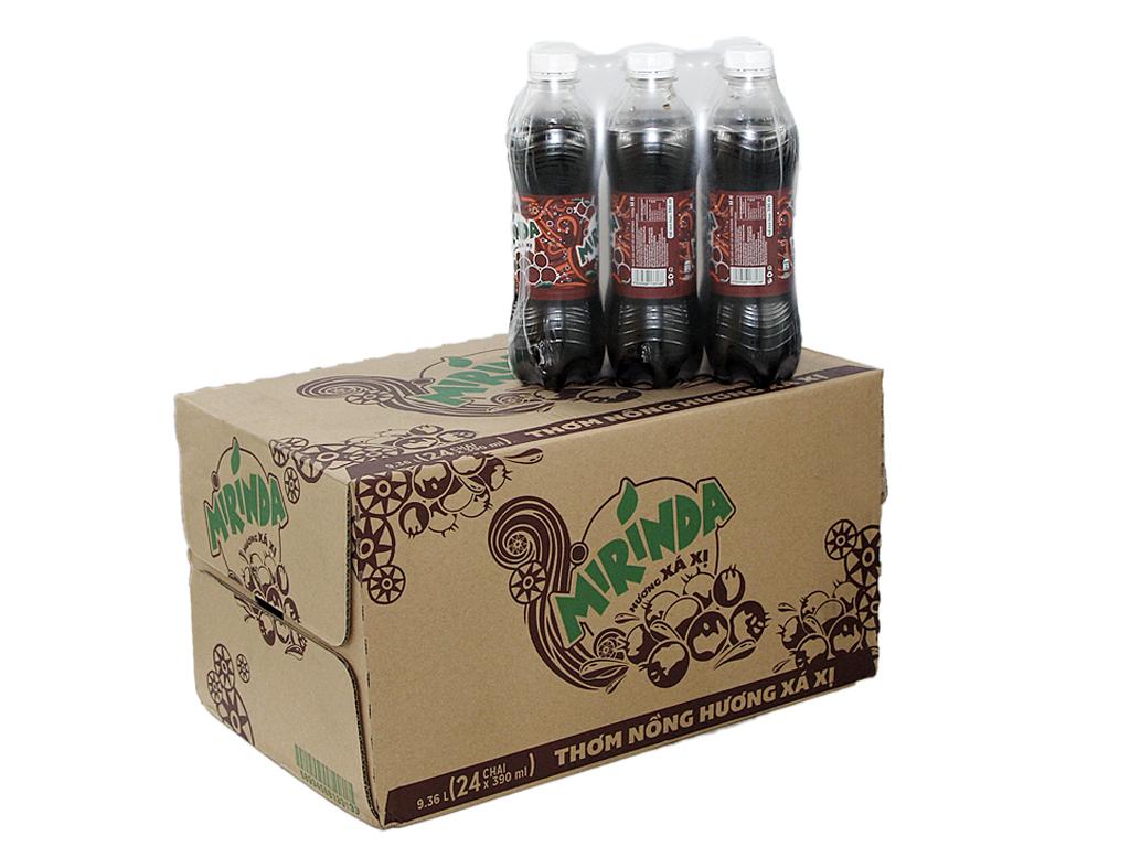 Thùng 24 chai nước ngọt Mirinda hương xá xị 390ml 1