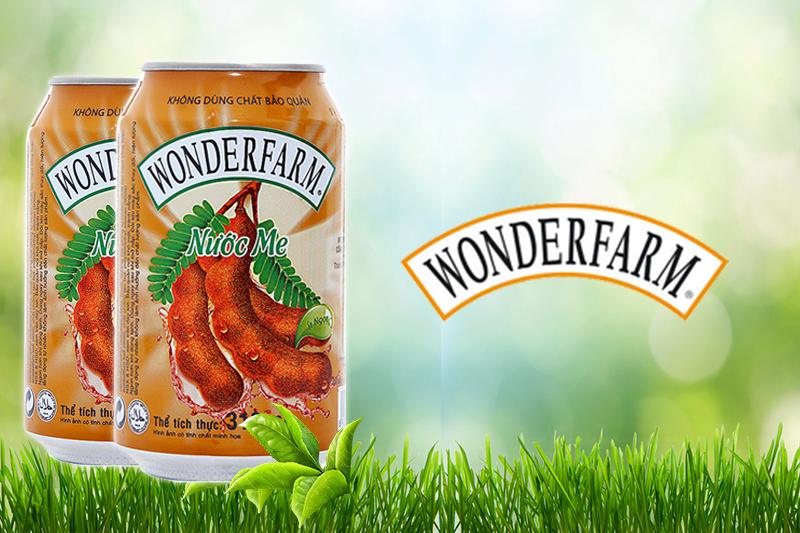 Nước ngọt Wonderfarm hương Me lon 330ml