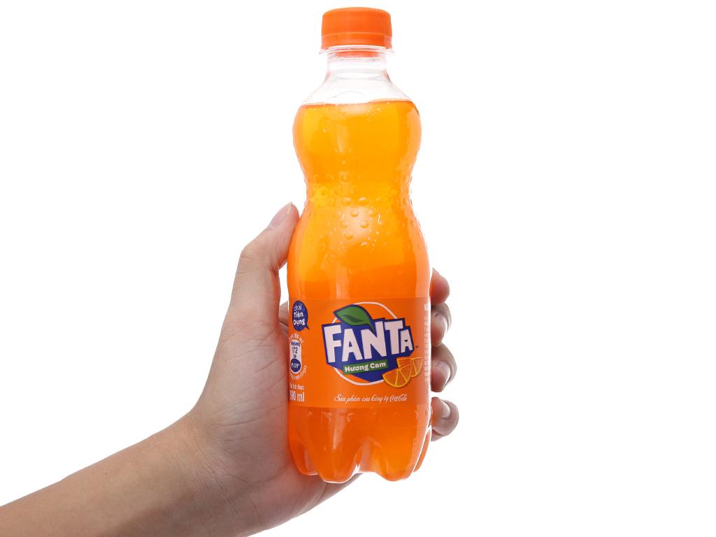 Nước ngọt Fanta hương cam 390ml 4